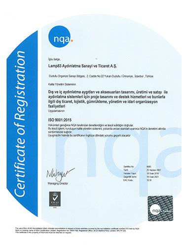 ISO 9001:2015 - LAMP 83